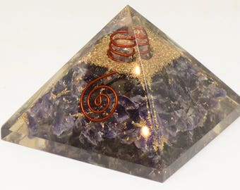 Amethyst Pyramid for EMF Protection