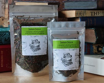 James Joyce Inspired Tea - Author -  Literary Tea Collection - Tea Gift - Literary Gift - Bookish Gift - Author Gift - Tea -