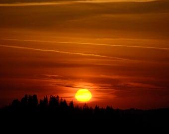 "Photograph, Landscape photograph, 14"" x 18"", photographic print, image, matted, sunset, nighttime, photographic art by Rudolf Lanzendorfer"