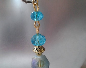 """Earrings """"blue faceted beads"""""""