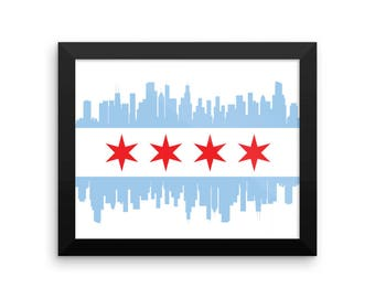 Chicago Skyline Framed Poster Print