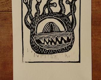 Xanathar Linocut Print