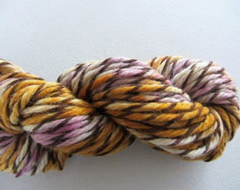 Gooseberry.  Handpainted Striped Bulky Yarn