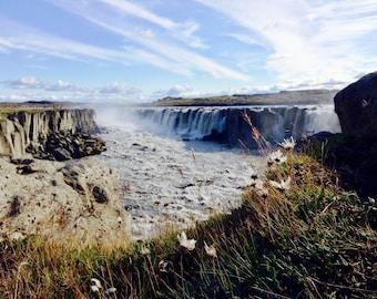 Iceland Waterfall Landscape -- Digital Download