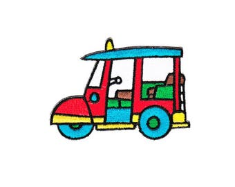 As35 Tuk Tuk Taxi Thailand Auto Asia car patch frame Application patch patches Child size 8.8 X 6.5 cm