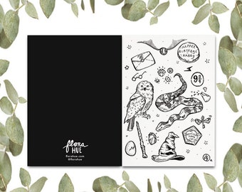 Harry Potter Notecard with Envelope. The Philosopher's Stone. Pottermore Art. Greeting Card. Pen Pal. Letter Mail. Snail Mail. Birthday Card