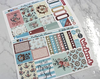 Planner Stickers - Weekly Planner Sticker Set - Erin Condren Life Planner - Happy Planner - Day Designer- Functional stickers - Seas the Day