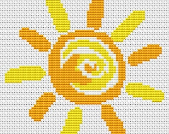 Summer Cross Stitch Chart, It's a Sunny Day Cross Stitch Pattern PDF, Sun Cross Stitch, Art Cross Stitch, Embroidery Chart