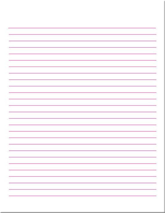 Pink And Orange Lined Paper / Digital Paper / Printable Paper / PDF