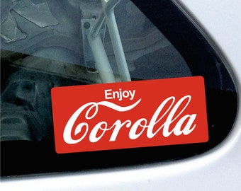 Toyota Corolla awesome sticker / decal