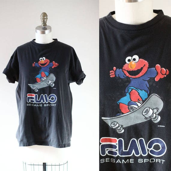 1990s FILA Elmo tee // 1990s soft t-shirt // vintage t-shirt