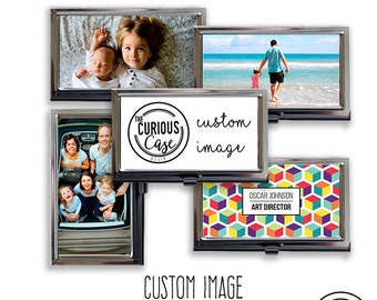 Create a Case Custom Image Business Card Case Metal Case Fits Business Credit Debit and Gift Cards Your Image On a Case