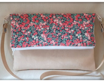 Clutch hand bag in Liberty reversible flap