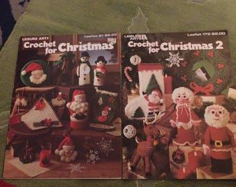 2 crochet for Christmas booklets