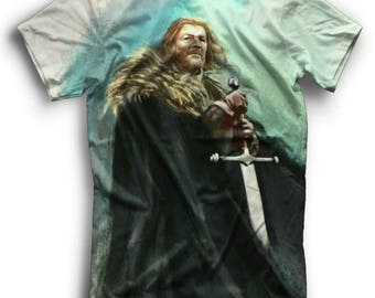 Ned Stark Game of Thrones Full Print T-Shirt