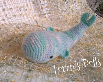 Baby Whale stuffed fish aquatic toys Marine life sea creatures ocean inhabitant Crochet Toys from Loren Ver