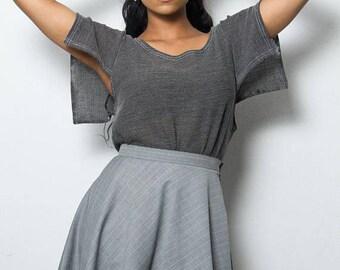 Gored skirt grey