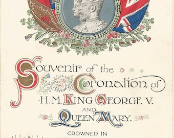 Vintage 1911 Postcard United Kingdom UK Coronation of King George V and Queen Mary England Westminster Abbey Divided Back Postally Unused