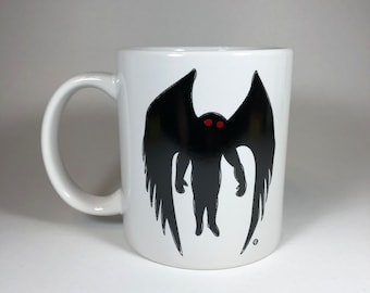 Mothman Cryptid Coffee Mug