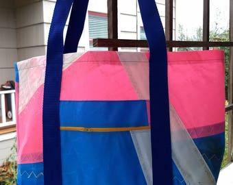 Windsurfing sail tote #3 - repurposed and waterproof