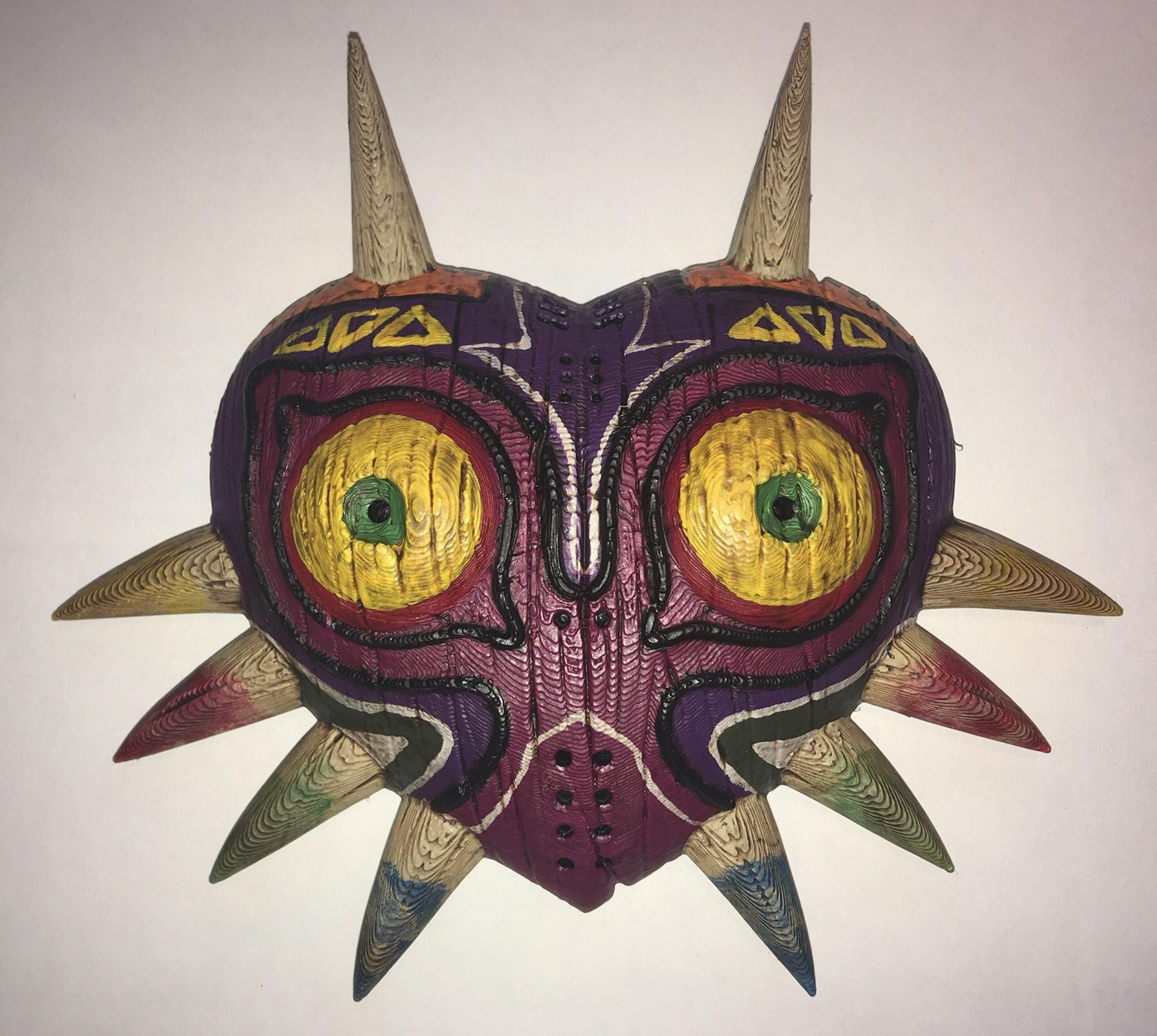 Legend Of Zelda Majoras Mask 3d Printed And Hand Painted Wall