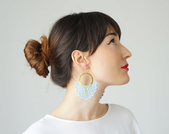 Statement Earrings Spring Fashion Summer Trends Blue Earrings Boho-Chic Fashion Bohemian Earrings Gift for Her Women Accessory Gift/ GELARI