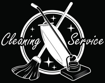 Cleaning Logo #47 Maid Service Housekeeper Housekeeping Clean Floor Mop Mopping.SVG .EPS .PNG Digital Clipart Vector Cricut Cutting Download