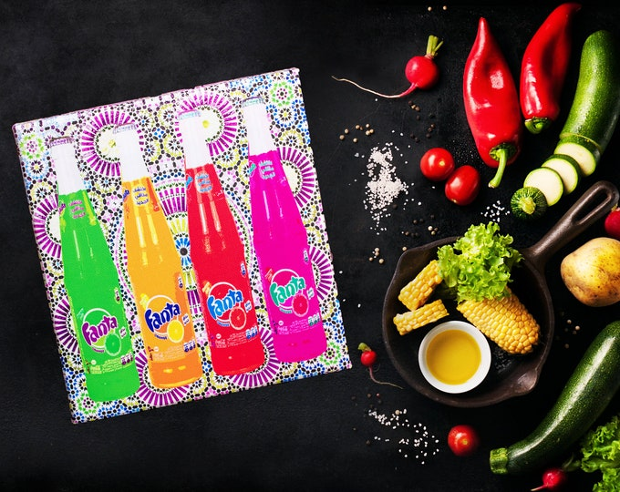 Impression Pop Art sur Toile - Soda Coloré