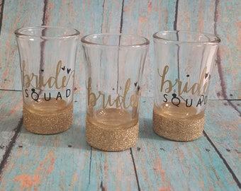 Bride Squad Shot Glasses