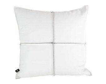 White Leather Cushion