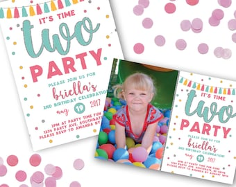 2nd birthday invite etsy time two party birthday invitation 2nd birthday invitation tassel banner 2nd birthday invitation printable birthday invitation stopboris Images
