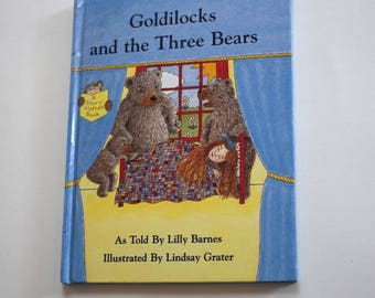 Vintage Book, Goldilocks and the three bears.
