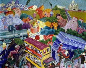 "Souvenirs de Voyage ""Memories of a Journey"" Painting Gino Severini Art Reproduction"