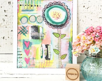 Everyday Beauty Mixed Media Art Print - 2 sizes available