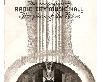 August 8 1940 Issue of Showplace The Magazine of Radio City Music Hall New York City Nice Shape Great Ads