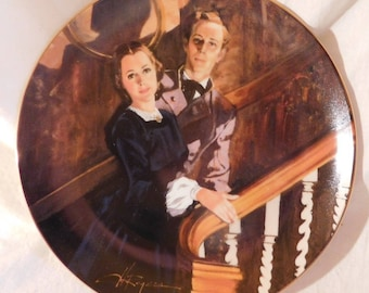 Melanie and Ashley by Howard Rogers Gone With the Wind Collectors Plate Golden Anniversary Series