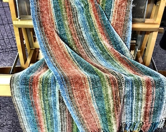 Xlarge hand woven Chenille Scarf