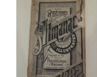 1882 Philadelphia Record, Illustrated Almanac Journal, Many Illustrations, REDuCED