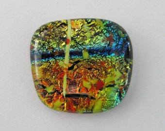 Free-form, Dichroic  and Specialty Glass, Focal Cabochon