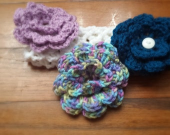 Interchangeable Flowers for Headband set of 3