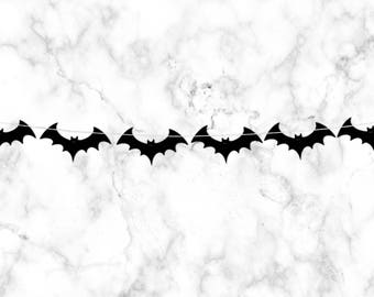 Bat banner bat garland halloween party decorations bat party halloween banner pumpkin party banner bat decorations trick or treat banner