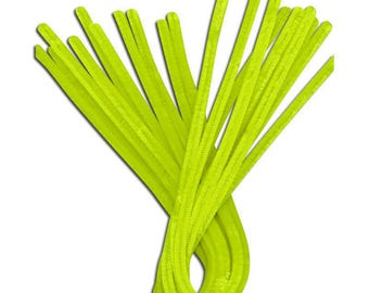 10 x 30cm neon yellow pipe cleaner chenille yarn