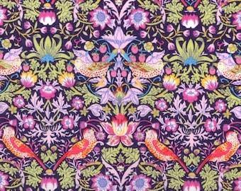 Liberty Tana Lawn fabric Strawberry's thief -  carré de 20 cms x 20 cms idéal DIY
