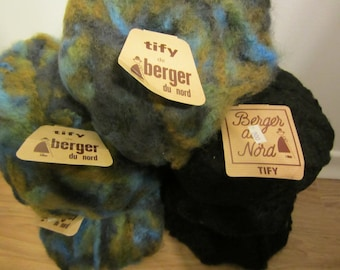 Tify Yarn by Berger du Nord - made in France - fuzzy soft wool