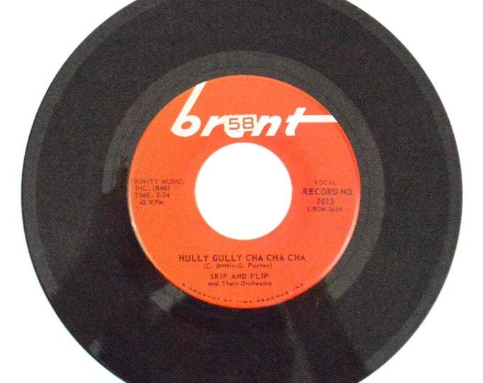 Vintage 60s Skip and Flip Hully Gully Cha Cha Single 45-RPM 7-inch Vinyl Record