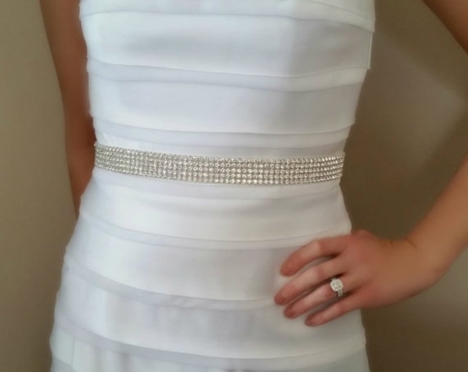 Wedding Dress Belt, Bridal Rhinestone Sash, SPARKLE, Bridal Belts, Wedding dress Sashes, wedding dress Belts, ribbon, bridal