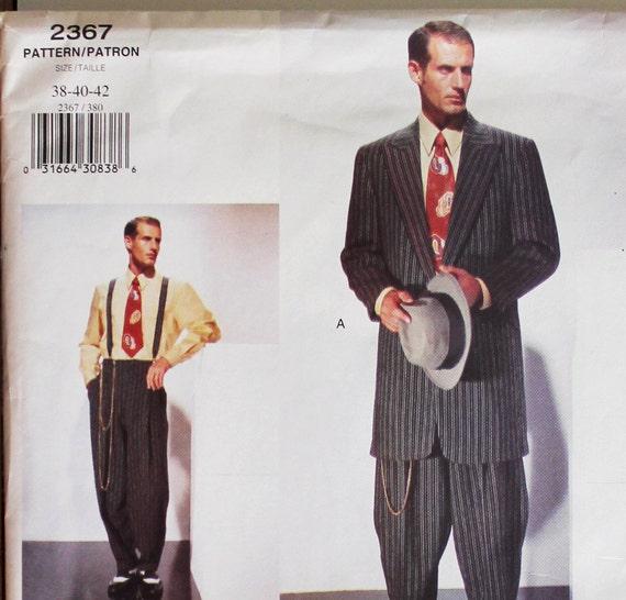 Zoot Suit -1940\'s Style - Vogue Pattern 2367 Uncut Size 38-40-42 ...