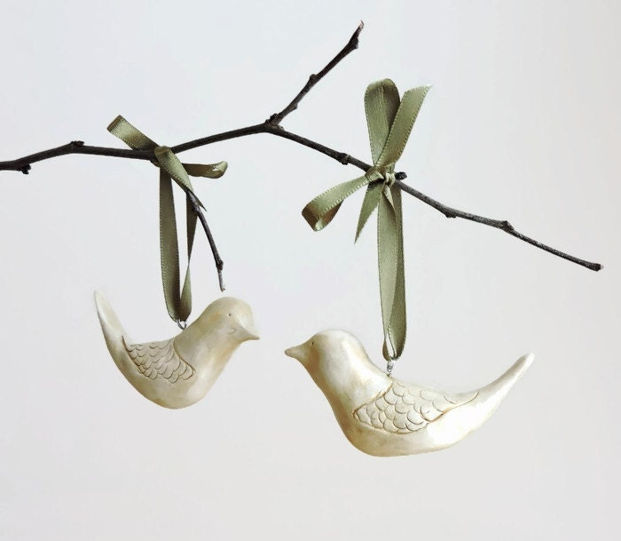 Spring gifts summer decor clay ornaments love bird zoom negle Image collections