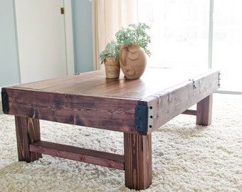 Rustic Coffee Table, Farmhouse Coffee Table, Rustic Industrial Coffee Table,  Wood Coffee Table, Rustic Coffee Table, Coffee Table