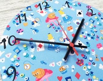 Alice in Wonderland Fabric Wall Clock